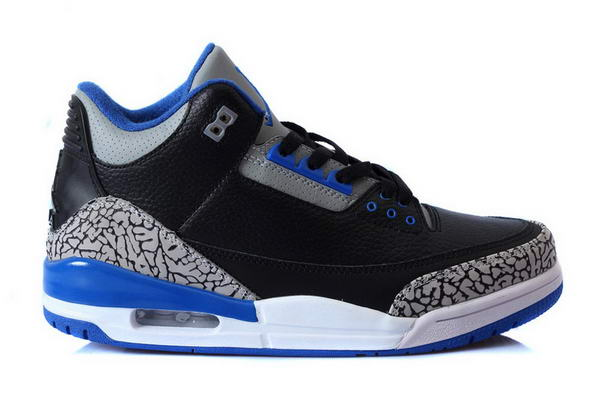 Air Jordan 3 Sport Blue(Official Image) Shoes Black/Sapphire